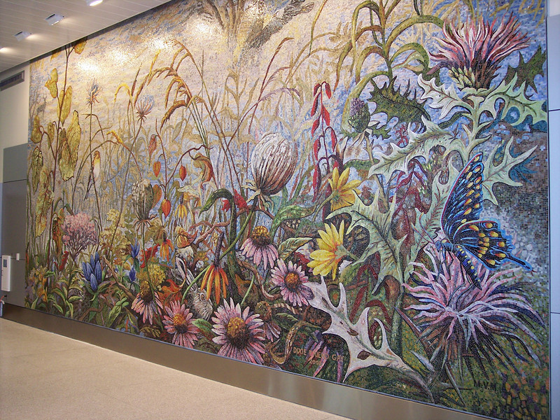 """Mural inside of Concourse """"A"""" security area"""