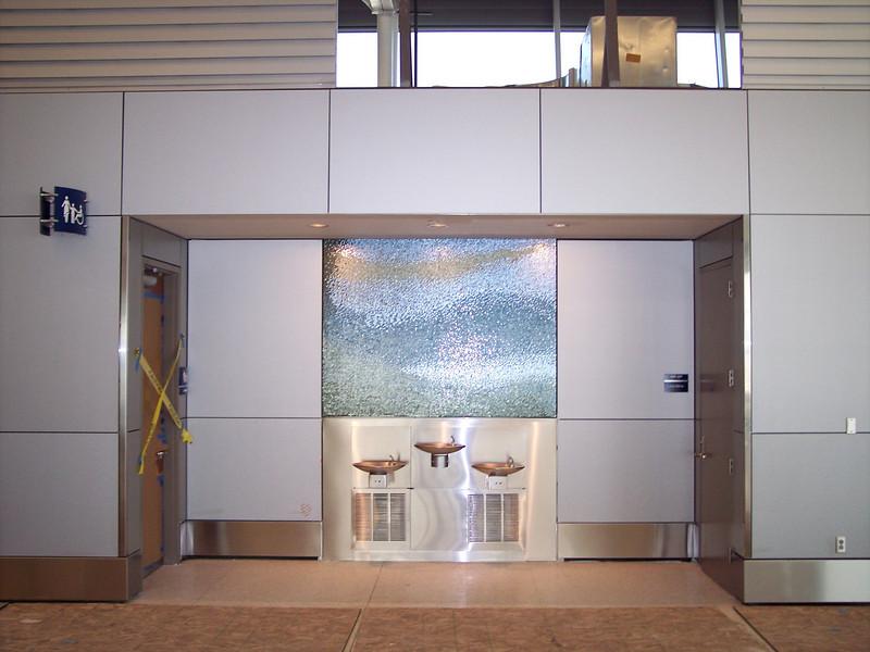 Entrance into restrooms