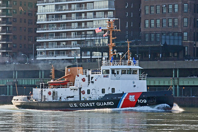 Coast Guard Cutter on East River NYC