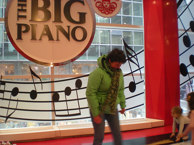 Playing the BIG Piano in toy store!