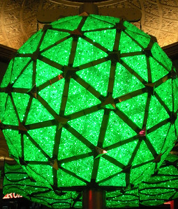 The New Year's Eve ball turning green!