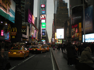 Times Square at night...