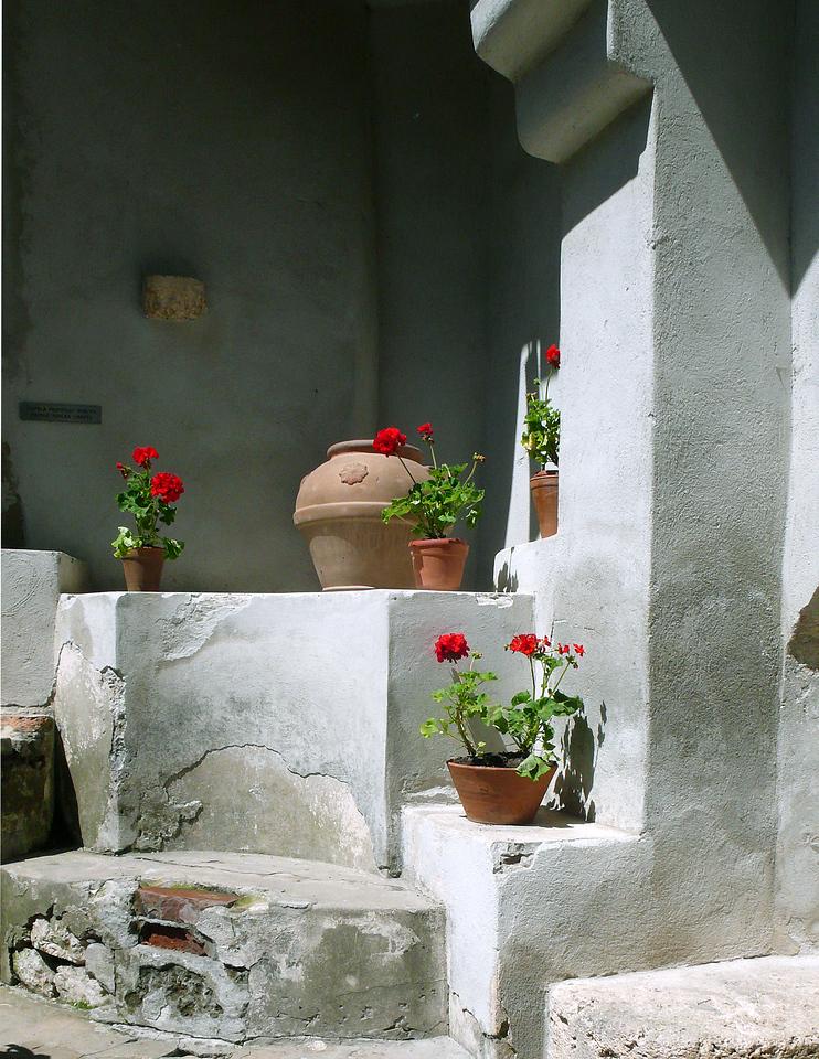 Courtyard in Bran Castle, Transylvania