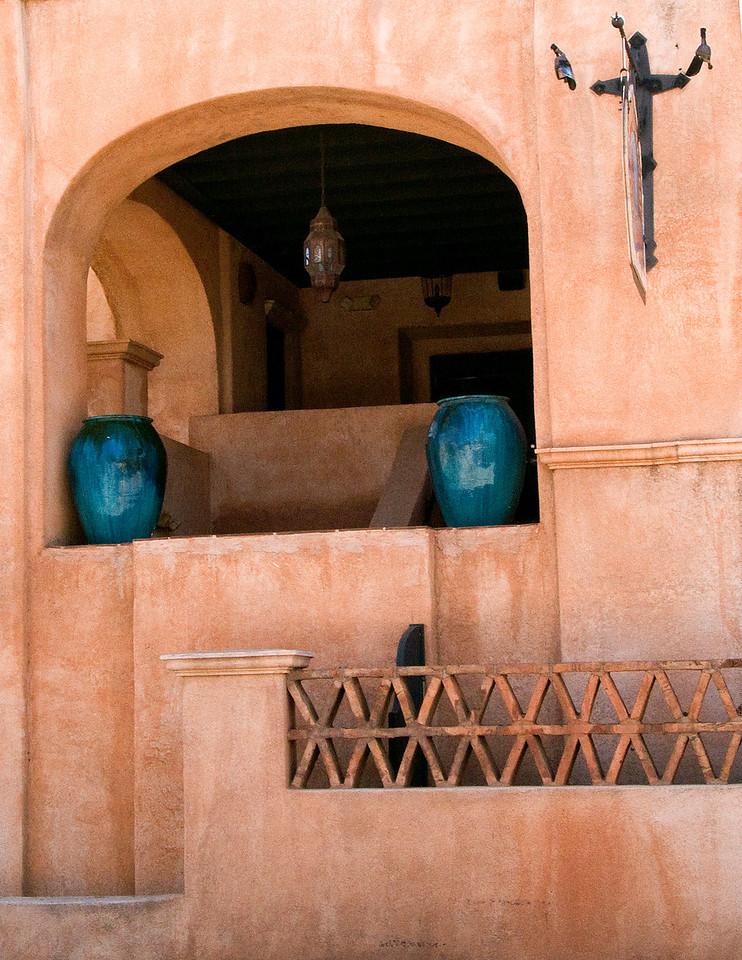 Blue vases in Tlaquepaque, AZ