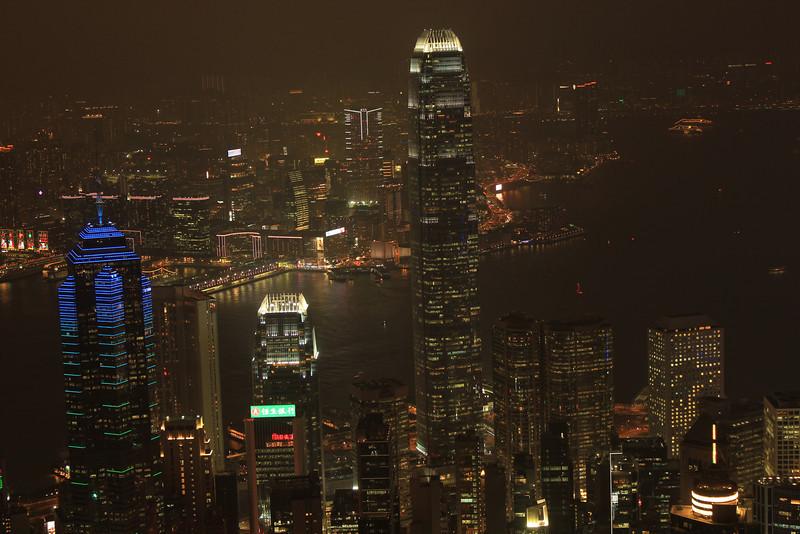 Hong Kong and Kowloon Skyline taken from the Peak, Hong Kong
