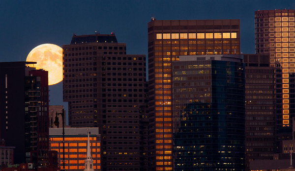 Moonrise over Boston