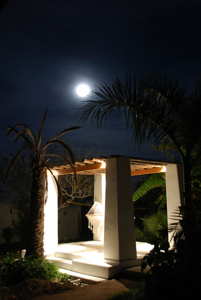 if need to read in the hammock the gazebo has lights now - full moon is bright, but not enough for reading books