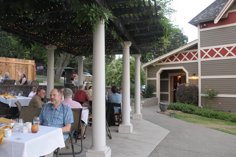 During the warm month you can dine under a portico. The views from there are spectacular!