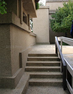 In Wright's day, their seemed to be little regard for the use of stairs and how that might have impeded access.
