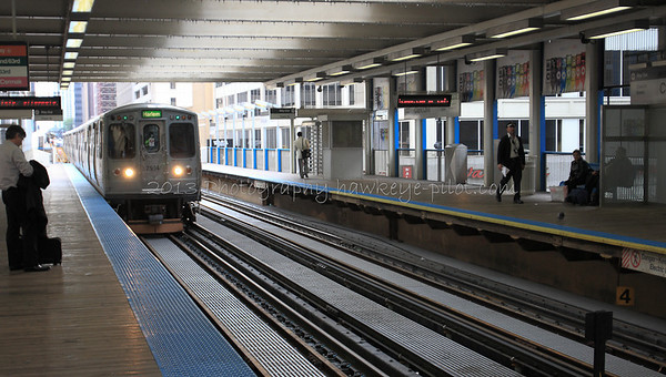 At the Loop's Clark and Lake Metro Station.