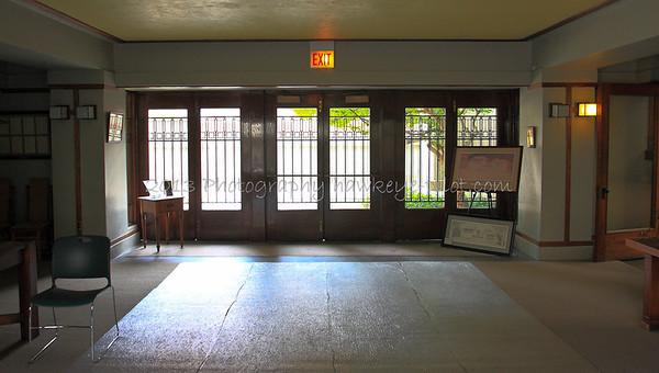 Inside the main doors.