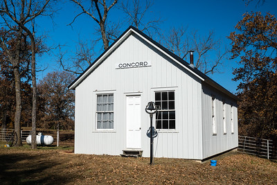 One room schoolhouse located near El Dorado, MO.