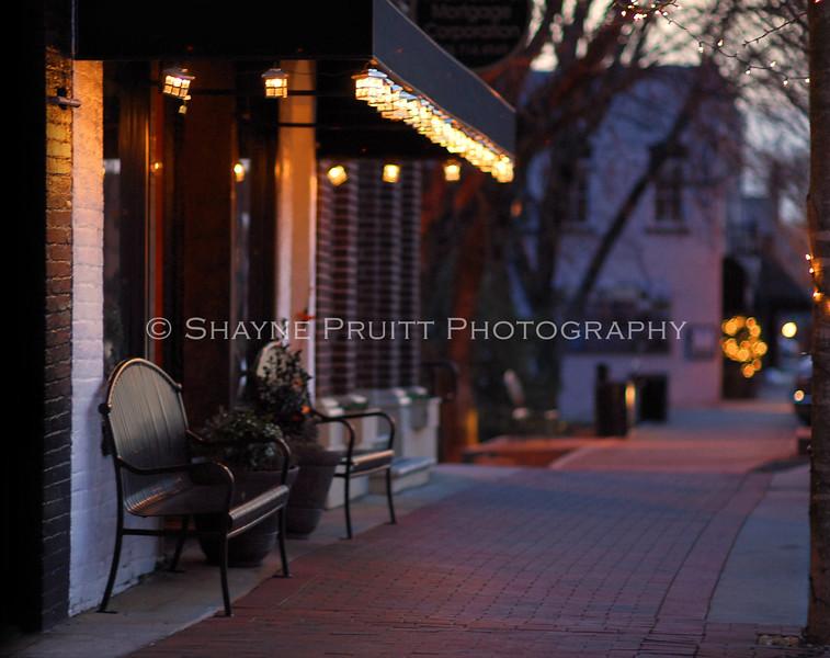 Dusk in Downtown Buford, Georgia