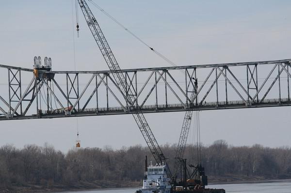Old Greenville Bridge Coming Down