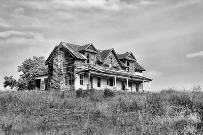 Mt. Judea House in B&W