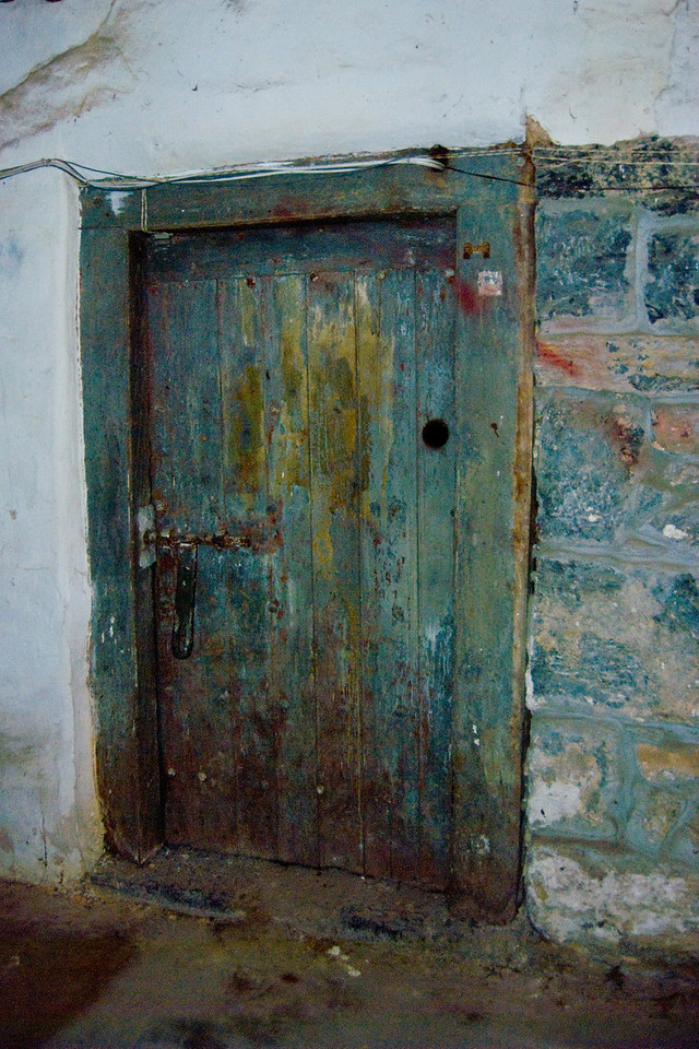 This is a door to one of the cells in the dungeon.