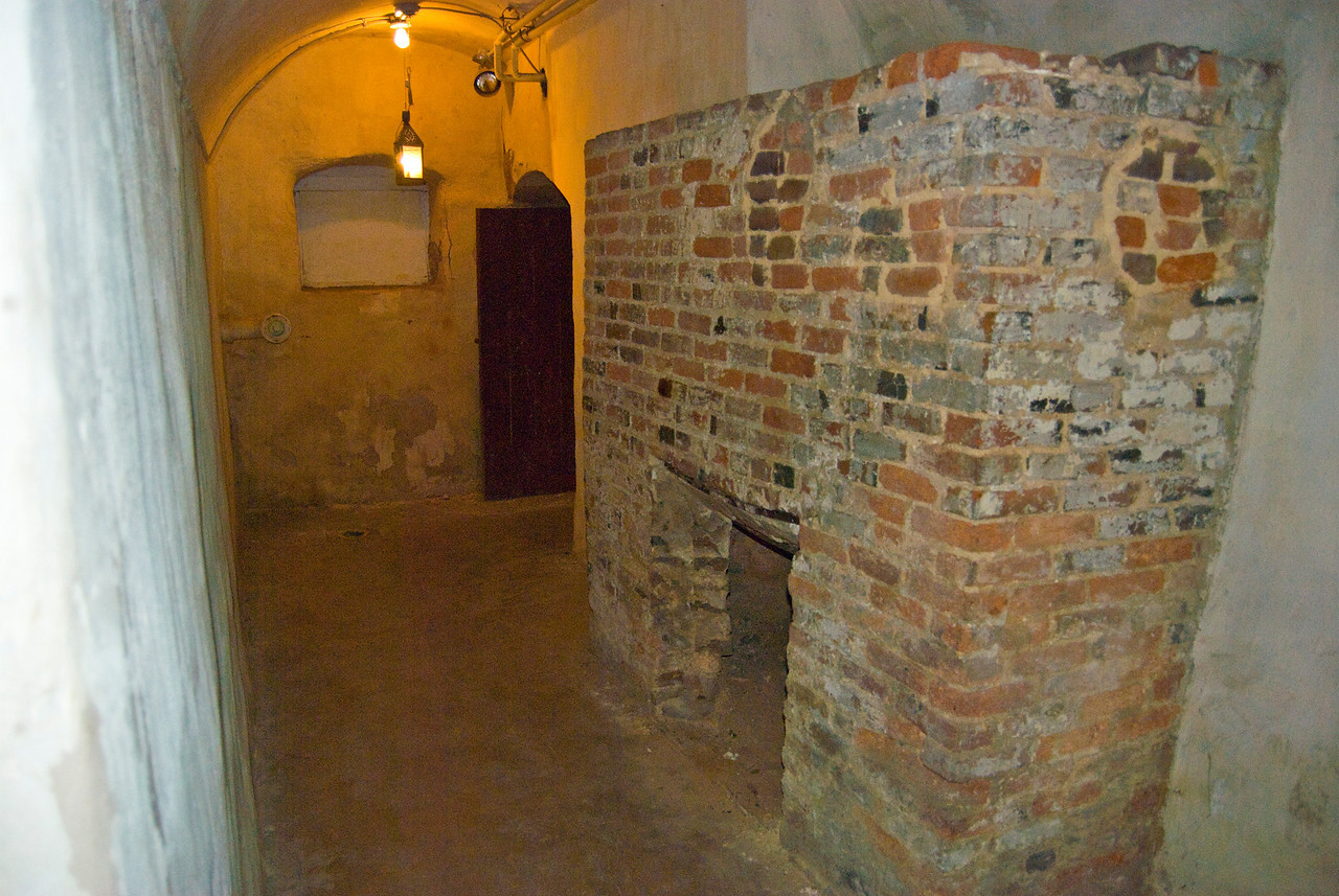 This faux fireplace is thought to have been used to hide prisoners behind.  Some think the slaves were hidden there by the underground railroad.