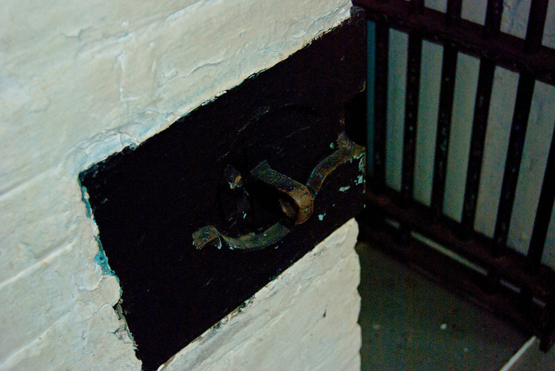 This is where the round part of the hinge went into and then a bolt of lock would keep it shut.