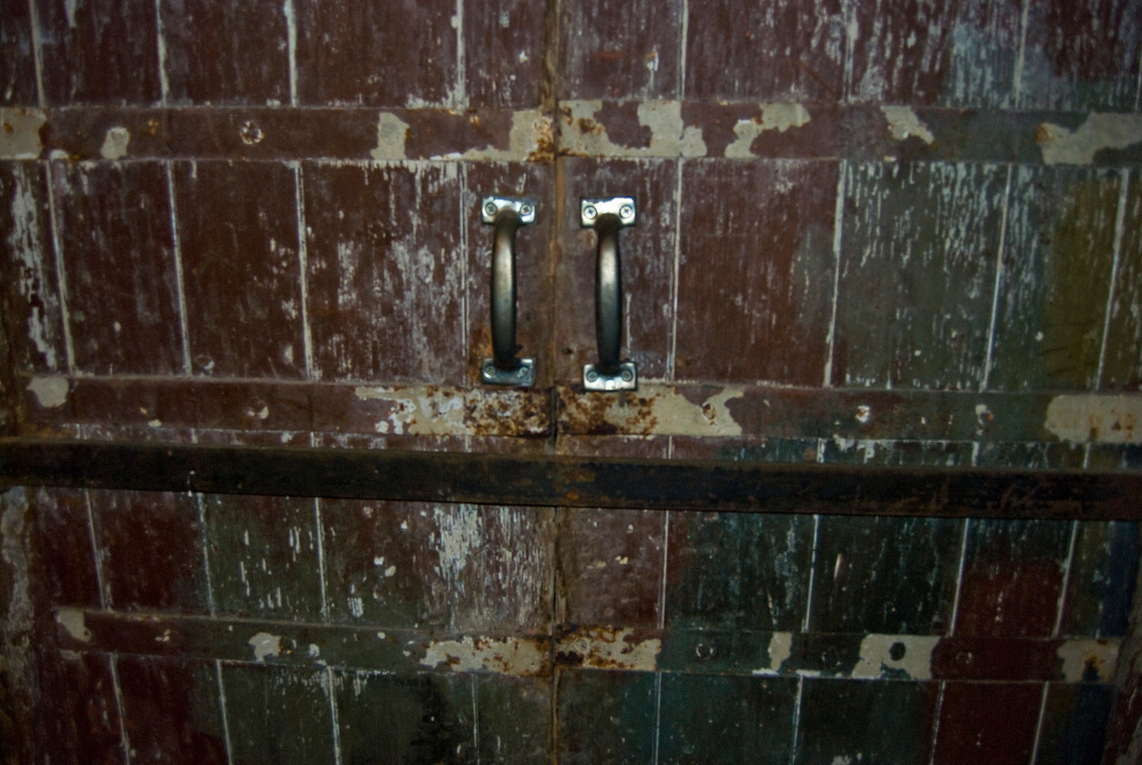 This old door leads to the underground tunnels which run throughout down town Chambersburg.
