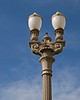 Streetlight under the sunlight, a detail. Featured in Pasadena Heritage presentation at Guardians of Old Pasadena celebration. File No. OldPas4995
