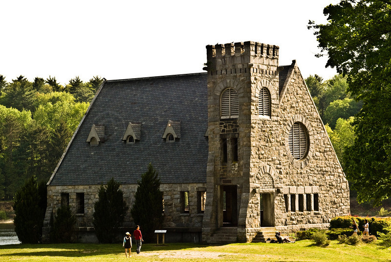 The Old Stone Church at Wachusett Resevoir