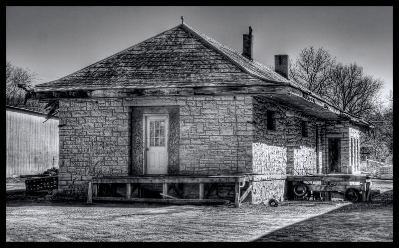 Missouri and North Arkansas RR Depot - Leslie, AR