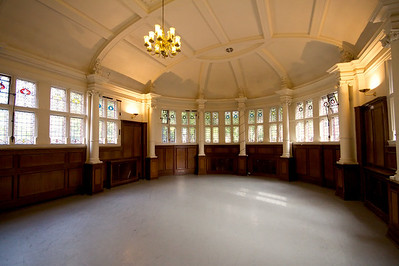 Finsbury Town Hall interior detail - former Council Chamber