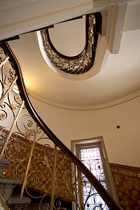 Finsbury Town Hall interior detail - staircase