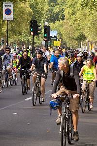 and Embankment was invaded by cyclists