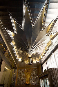 Express Building interior detail - foyer ceiling