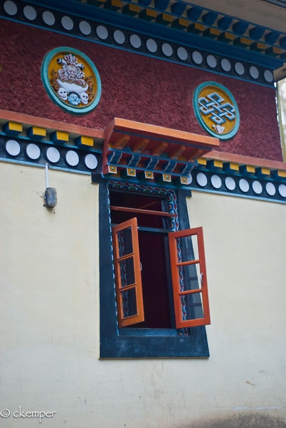 Monastery Window<br /> Sikkim, India