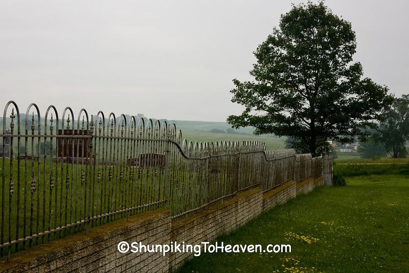 Wrought Iron Fence at Antioch Church Cemetery, Jones County, Iowa