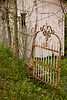 Wrought Iron Gate at The Gingerbread House, Metamora, Indiana