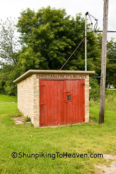 Old Fashioned Rural Fire Station, Wisconsin