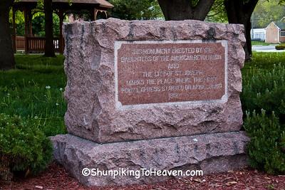 Monument to First Pony Express, St. Joseph, Missouri