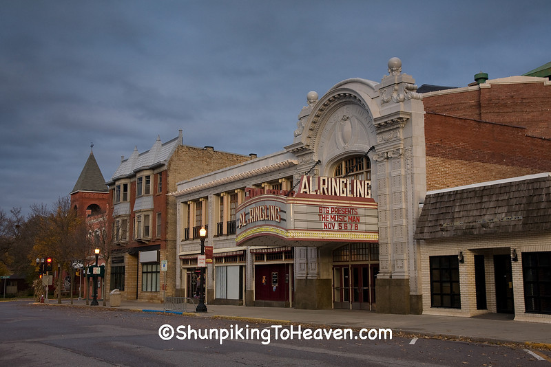 Downtown Baraboo and the Historic Al. Ringling Theater, Sauk County, Wisconsin