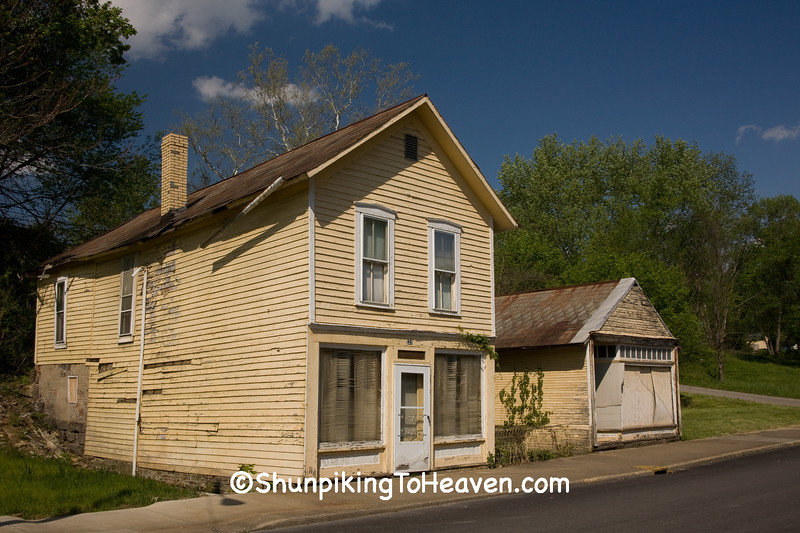 Old Store Building and Garage, Shawnee, Perry County, Ohio