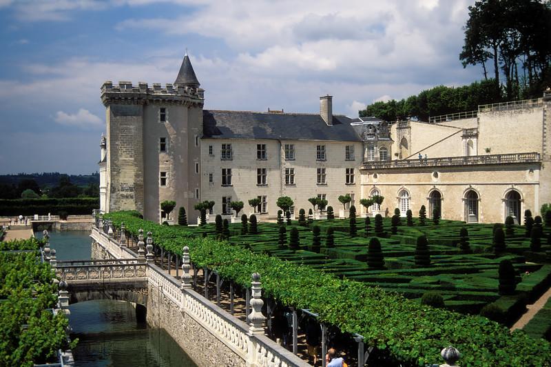 16th Century Château & Ornamental Gardens, Villandry,  Indre-et-Loire, France