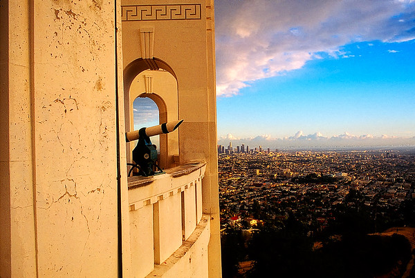 View of Griffith Observatory #4 with City of Los Angeles in Background - LA, CA, USA