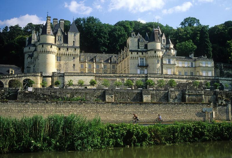 Château D'Ussé From Across River Indre, Indre-et-Loire