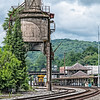 C&O concrete coaling tower, Ronceverte, West Virginia
