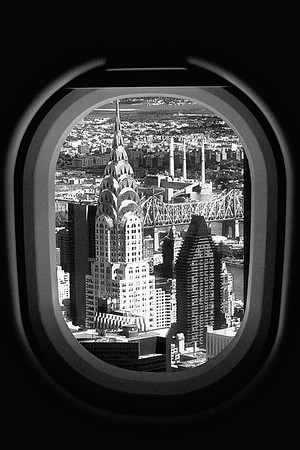 A Window Seat In the Air Over NYC - New York, USA