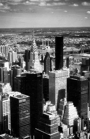 View of New York City with Chryselr Bldg #2a - NYC, USA