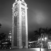 Kowloon Clock Tower At Night, Kowloon, Hong Kong