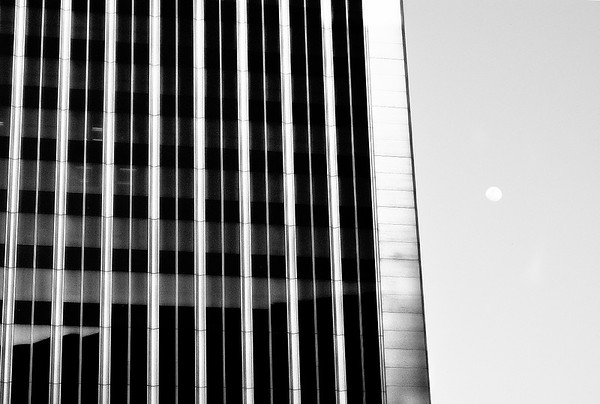 Building and Moon #1a - Century City, CA, USA