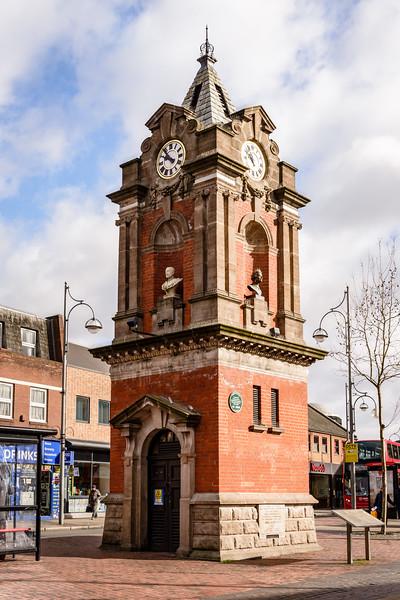 Bexleyheath Coronation Memorial Clock Tower, Market Place, Bexleyheath, London, England