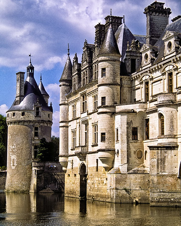 Tour Des Marques And Main Building, Château De Chenonceau, France