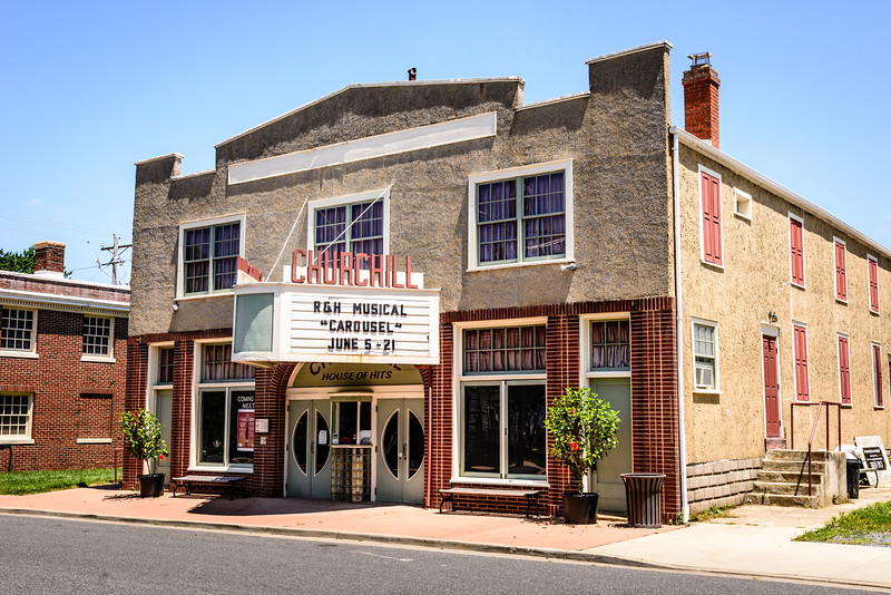 Churchill Theatre Community Building, 103 Walnut Street, Church Hill, Maryland