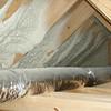 Spray foam in attic space to achieve a sealed conditioned attic.