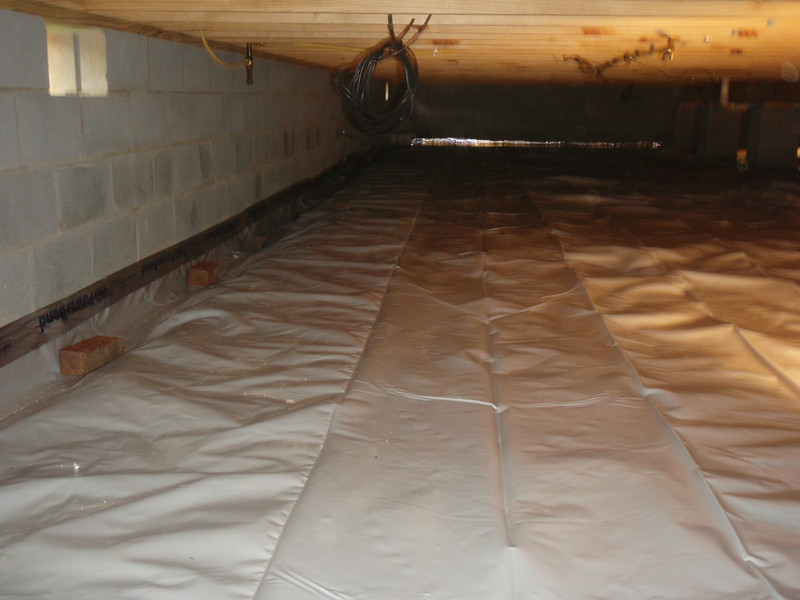 12 mil plastic liner to seal the crawl space.